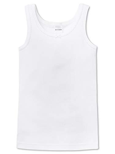 Schiesser Mädchen Hemd 0/0 Unterhemd, Weiß (100-Weiß), 116