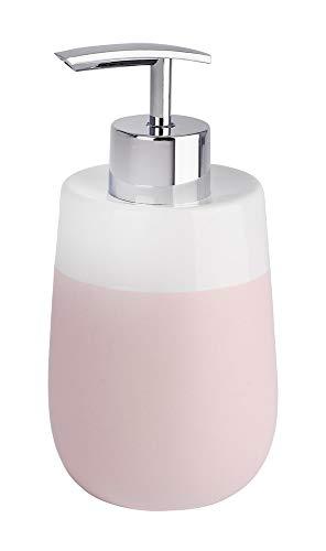 WENKO Seifenspender Malta Rosa/Weiß Duschlotion-Spender Badezimmer-Spender