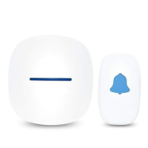 BlackEdragon Wireless Smart Music Türklingel Home Elektronische Türklingel 52 Tune Song White