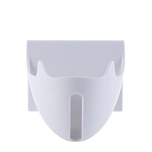 NZNZ Jabón Caja de jabón Soporte de jabón Plato Organizador Organizador Caja de Almacenamiento Plástico Tenedor de Bandeja Contenedor Montado en la Pared Punch-Free (Color : A White)