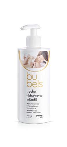 Bubels Leche Hidratante Infantil Hipoalergénica con Manteca de Karité, Calendula y Avena, 400 ml