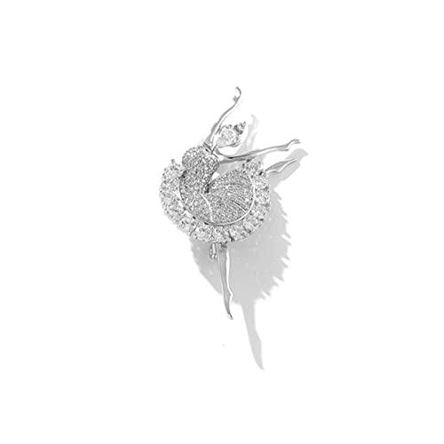 JIANGCJ Temperamento High-End Pins di Spilla per Le Donne Broo Balletto di Lusso Girl Girl Ago Ago Ago Temperamento Pin Ornamento Carino Creativo Accessori per Il Vestito Selvaggio