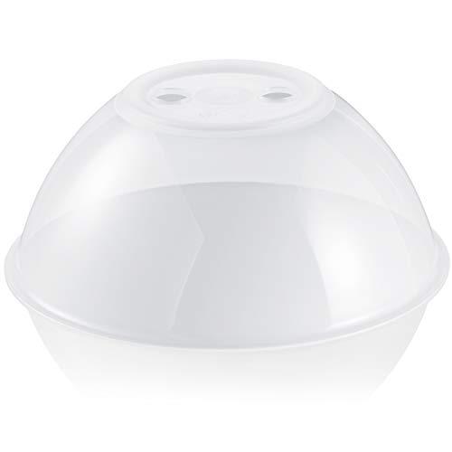 Hausfelder Mikrowellenhaube XL-Abdeckung Spülmaschinengeeignet und BPA-frei | ideal als hohe Mikrowellen Abdeckhaube, Spritzschutz Deckel, Teller Haube für die Mikrowelle