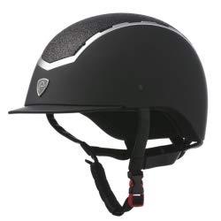 Equi-Theme/Equit'M Damen EQUITHÈME Insert Lamé Helmet Helm, tiefschwarz, Size: 52-54