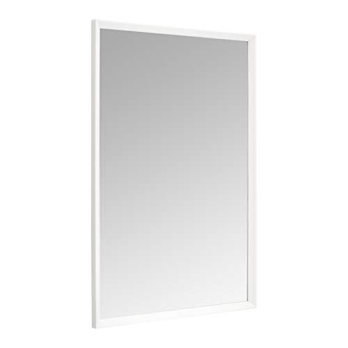 Amazon Basics Espejo para pared rectangular, 60,9 x 91,4 cm - marco biselado, blanco