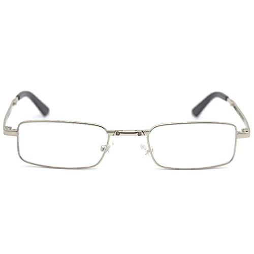 H.yna Gafas De Lectura Plegables Compactas Negras con Funda Abatible Gafas De Rotación Portátiles