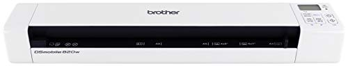 Brother Mobile Color Page Scanner, DS-820W, Wi-Fi Transfer, Fast Scanning, Compact and Lightweight