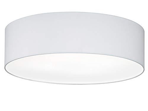 Fischer & Honsel Deckenleuchte Maat 4x E14 max. 40,0 Watt, weiß, Stoffschirm, 20009, 55 x 55 x 15 cm (LxBxH)