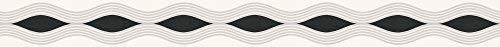 A.S. Création selbstklebende Bordüre Only Borders Borte 5,00 m x 0,05 m grau schwarz weiß Made in Germany 282217 2822-17