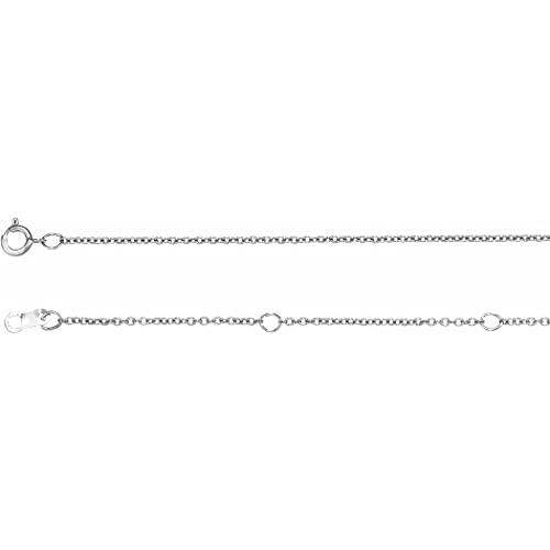 Pulsera de cadena de cable ajustable pulida de platino de 6 1/2 de 7 1/2 pulgadas con anillo de resorte joyería regalos para mujeres