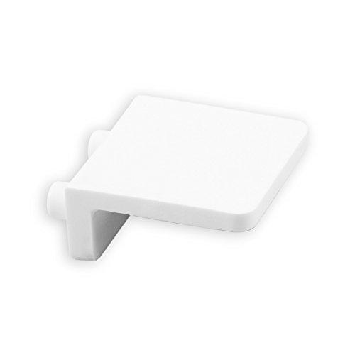 DIWARO® Anschlagwinkel | Farbe grau, dunkelbraun oder weiß | Material Kunststoff | für Endleiste, Endschiene | Rolladenpanzer | mit Zapfen (weiß)