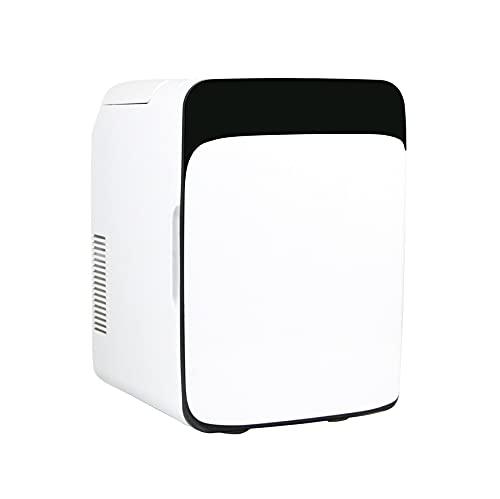 OMVOVSO Mini Refrigerador, Congelador Refrigerador Pequeña Botella Refrigeradora Pequeña Refrigerador Mini Nevera Silenciosa Nevera Barato,Blanco
