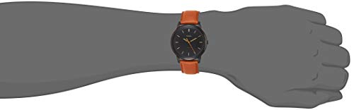 Fossil Men's The Minimalist Quartz Stainless Steel and Leather Casual Watch, Color Black, Brown (Model: FS5305)