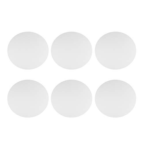 Milisten 6 Stücke Runde Schnittkante Leinwand Panel Stretched Leinwand Ölfarbe Malerei Bord 15 cm