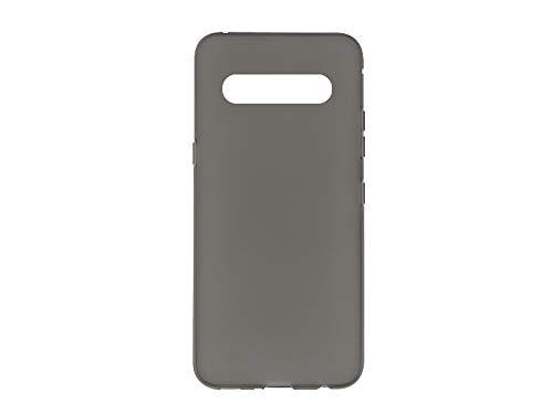 etuo Hülle für LG V60 ThinQ - Hülle FLEXmat Hülle - Schwarz Handyhülle Schutzhülle Etui Hülle Cover Tasche für Handy