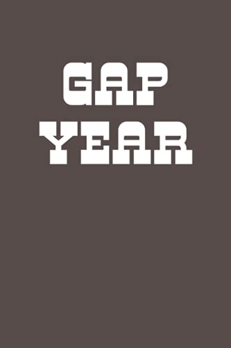 Gap Year: Simple Lined Notebook for Planning and Journaling with Retro Aesthetic Cover Design