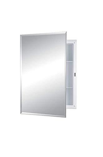 Jensen 868M22XWHZX S-cube Single-Door Recessed Mount Medicine Cabinet