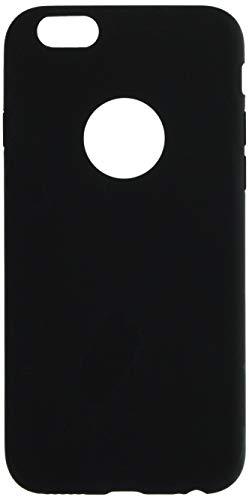 Shot Case Carcasa de Silicona para iPhone 6/6S, Color Mate Ultra Fina, protección de Gel Flexible, Color Negro