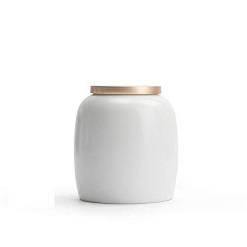 liangh Tierurne Urnen,Bestattung Urne Für Erwachsene,handgefertigt Aus Keramik Hand Engraved - Anzeige Burial Urn Zu Hause,7×7×8cm,White