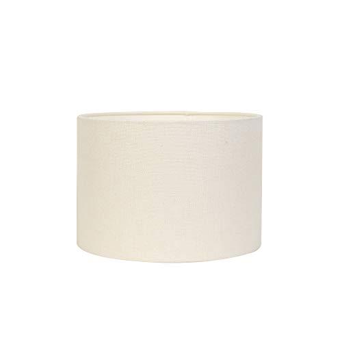 Light & Living Lampenschirm Zylinder Livigno - Eiweiß - Ø35 x 25 cm - Baumwolle/Leinen