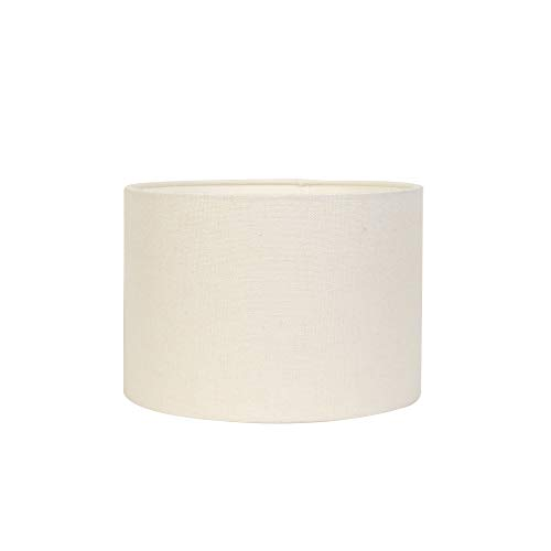 Light & Living Lampenschirm Zylinder Livigno - Eiweiß - Ø50 x 38 cm - Baumwolle/Leinen