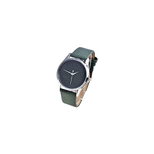 YepYes Piel Estudiantes Reloj analógico de Cuarzo con la Calle del brazal de Vogue Casual Decoración Verde Reloj de Pulsera