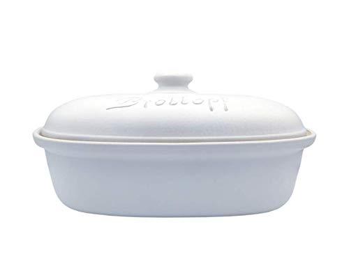 LISINA Keramik & Design - Keramik Brottopf L 34 x 22 x 17 cm (weiß)
