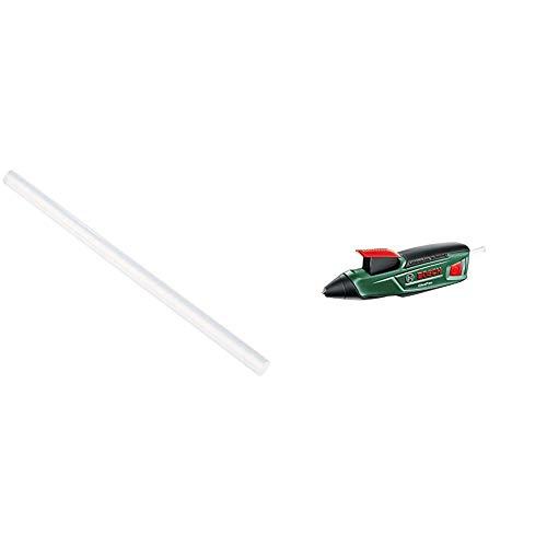 Bosch GluePen - Pistola de pegar a batería + Bosch 2 609 256 A04 - Juego de 10 barras de pegamento Cristal