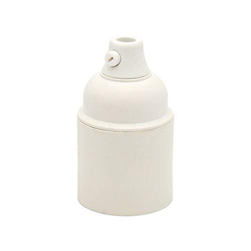 Titular de la bombilla de la lámpara E27 baquelita Portalámparas plástico Portalámparas E27 Portalámparas (Color : Plastic white)