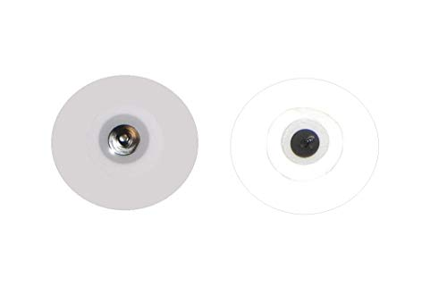 50 Elettrodi adesivi cerotti rotondi GRANDI 55mm fiab bottone snap clip elettrostimolatore captatori ecg emg
