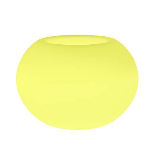ZTBGY Smart-bloempot, licht geleidende bloempot lichte huid, slaapkamer, balkon, zilveren decoratie, creatieve kunststof plant pot