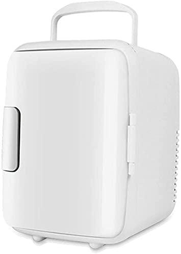 Refrigerador Cosmético Portátil Mini Nevera con Función De Enfriamiento Y Calentamiento Ruido Bajo AC/DC 12V para Hoteles, Habitaciones,Blanco
