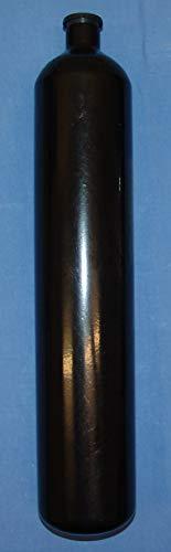 HTD Stahlflasche Tauchflasche 3 Liter 230 bar 100mm M25x2 ohne Ventil, schwarz Lackie