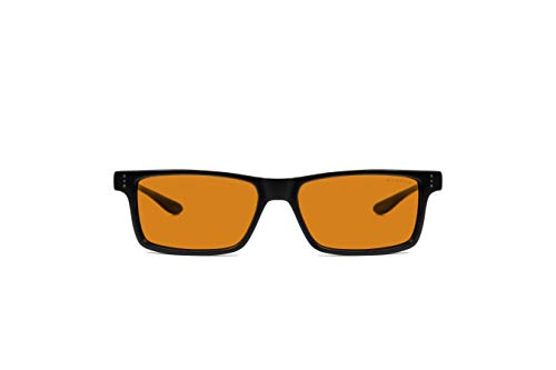 Gunnar Gaming and Computer Eyewear | Vertex, Onyx frame, Amber MAX Tint | Blue Light Blocking Glasses | Patented lens, 98% Blue Light Protection, 100% UV Light | Reduce Eye Strain & Dryness