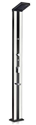 Gre DSALP38 – Premium Solardusche schwarz und Silber Aluminium, Wassertank 38L