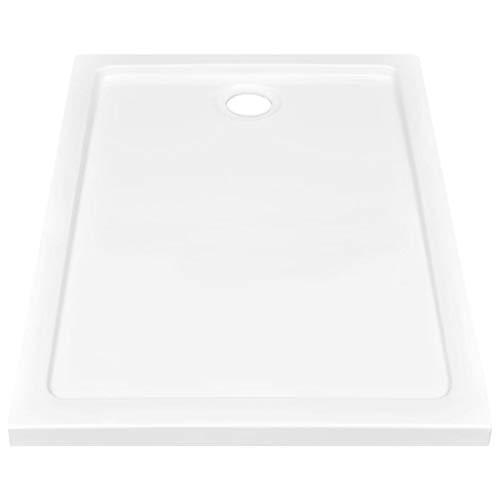 Lechnical Plato de Ducha práctico de baño, Plato de Ducha de ABS Blanco 70 x 100 x 5,5 cm (Ancho x Fondo x Alto)