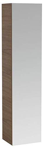 Lopende ILBAGNOALESSI Eén hoge kast met spiegel, 1 deur, links scharnierend, 4 legborden, 1700x400x300, Kleur: Wit gelakt - H4580110976311