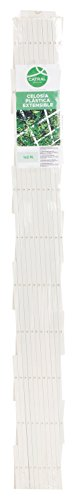 Catral 43060001 - Celosía deco PVC extensible, 1.0 x 150 x 50 cm, color blanco