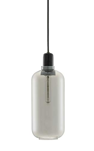Normann Copenhagen Amp Lampe groß EU rauchschwarz, 26x11,2cm