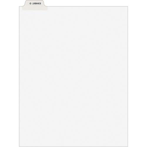 Avery Divider; Exhibit O; Bottom Tab; 8-1/2'x11'; 25/PK; White
