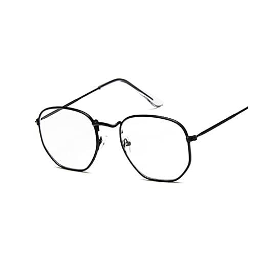 JINSUOZY DXXLD - Gafas de sol vintage cuadradas para mujer, diseño retro, clásico, negro, para mujer, hombre, lujo, Oculos de Sol (color: talla única)