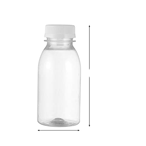 10 Uds 350ML 200ML botellas de almacenamiento de leche de plástico transparente botellas de bebida botella de jugo de agua de leche transparente para exteriores-350ML