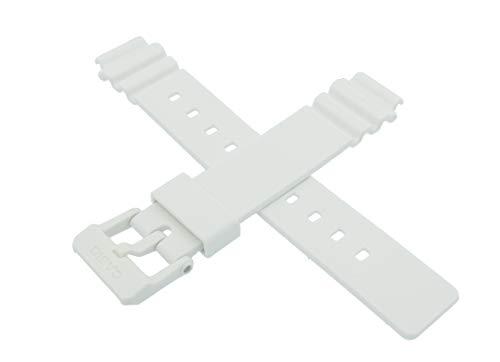 Casio 10406536 - Correa de reloj para LRW-200H LRW 200H 200, color blanco