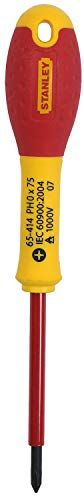 STANLEY 0-65-414 - Destornillador aislado vde 1000v FatMax phillips ph0 x 75 mm