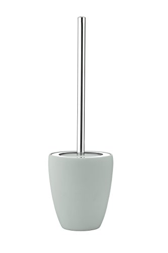 Zone Denmark Ständer und WC-Bürstenhalter und WC-Bürste, weich grün, Edelstahl, 130mm, 410mm