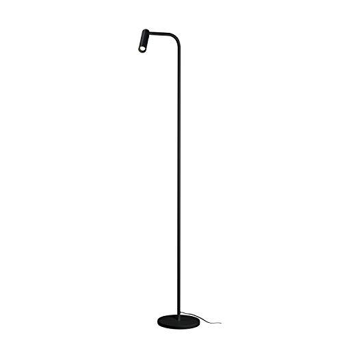 SLV LED Standleuchte KARPO   Design Innen-Standleuchte, stilvolle Innenbeleuchtung   Indoor-Leuchte dimmbar in 3 Stufen, Lese-Beleuchtung, Indoor-Lampe   schwarz   mit Premium LED