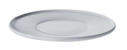 Alessi Ajm28/79 Platebowlcup Soucoupe Pour Tasse à Thé en Porcelaine Blanche, Set de 4 Pièces