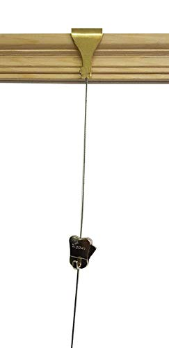 STAS Reißverschlusshaken + Messingleiste + Stahlseil Drahtseil Traditioneller viktorianischer Holzrahmen für Bilder