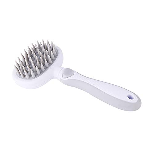 Kudiro Cepillo de pelo para gatos Cepillo de aseo de mascotas Cepillo de pelo para perros Peine para mascotas ayuda a que el cabello crezca saludable y evite enfermedades de la piel (gris)