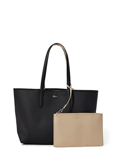 Lacoste Damen NF2142AA Einkaufstasche, Noir Krema, Einheitsgröße EU